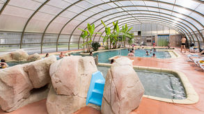 indoor swimming pool camping la ville huchet saint malo