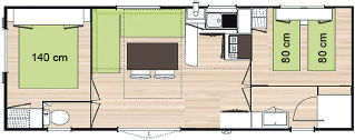 plan mobile home grand confort 4 pers la ville huchet